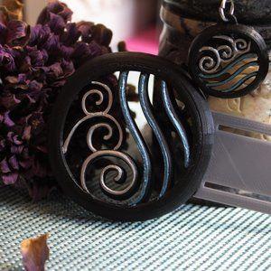 Earring & bookmark-Waterbending Avatar